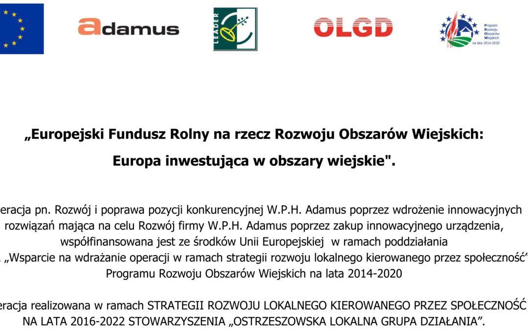 Dotacja PROW 2014 – 2020